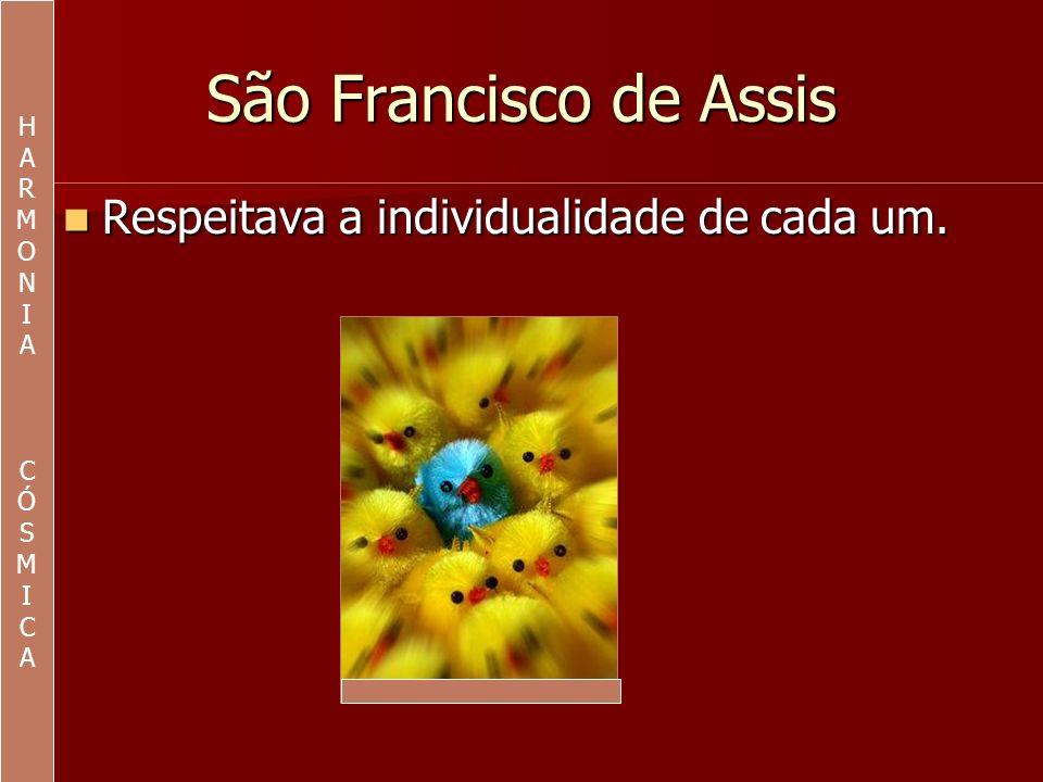 São Francisco de Assis Observava a sua própria individualidade.