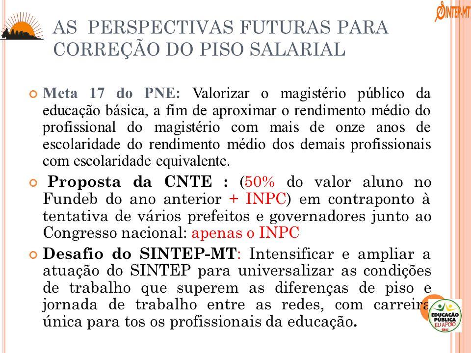 Meta 17 do PNE: Valorizar o magistério público da educação básica, a fim de aproximar o rendimento médio do profissional do magistério com mais de onz