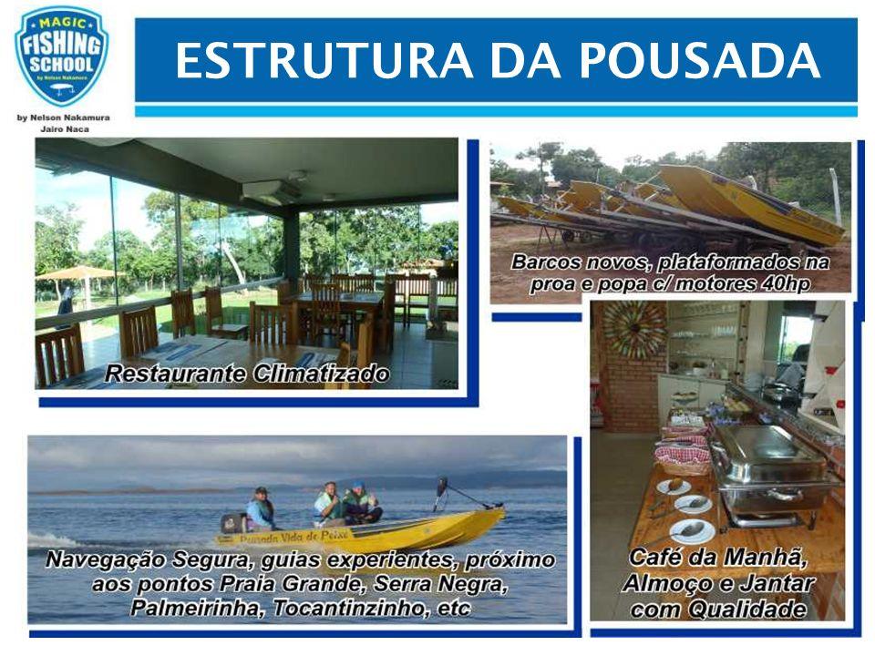 CRONOGRAMA 29 de maio de 2013 – Encontro no Aeroporto de Brasília 30 de maio de 2013 – Primeiro dia de Pesca no Lago de Serra da Mesa 31 de maio de 2013 – Segundo dia de Pesca 01 de junho de 2013 – Terceiro dia de Pesca 02 de junho de 2013 – Quarto dia de pesca 02 de junho de 2013 as 22:00 hs retorno a Brasilia