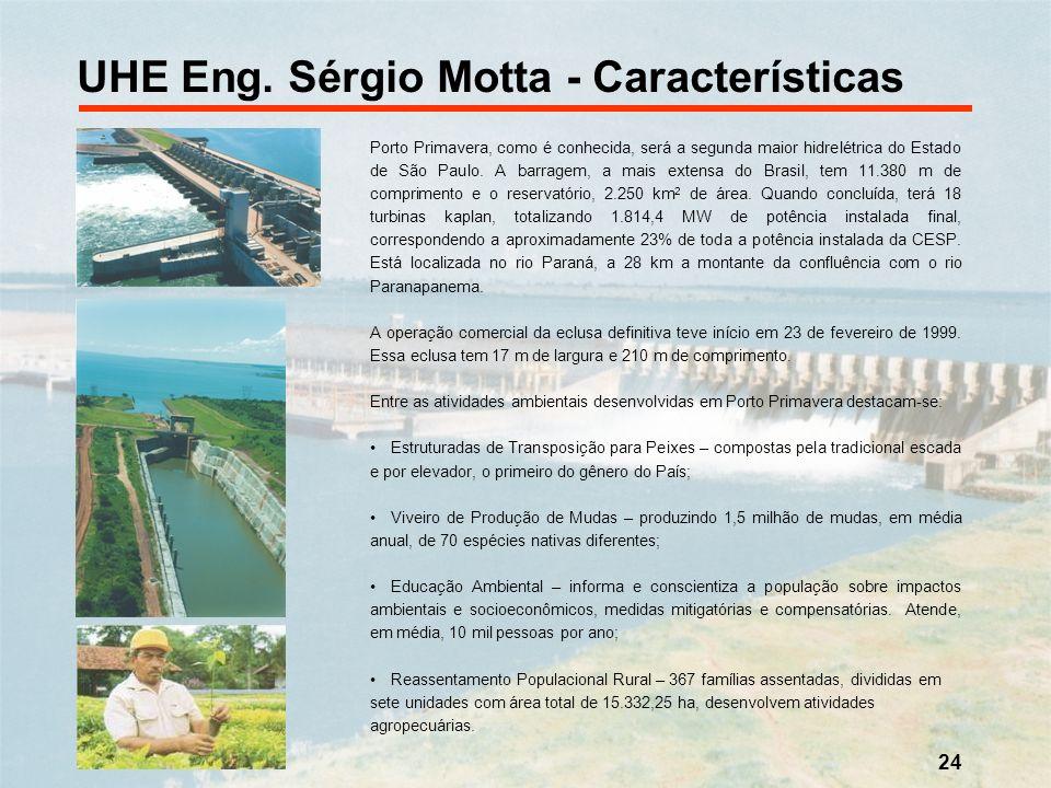 24 Porto Primavera, como é conhecida, será a segunda maior hidrelétrica do Estado de São Paulo. A barragem, a mais extensa do Brasil, tem 11.380 m de