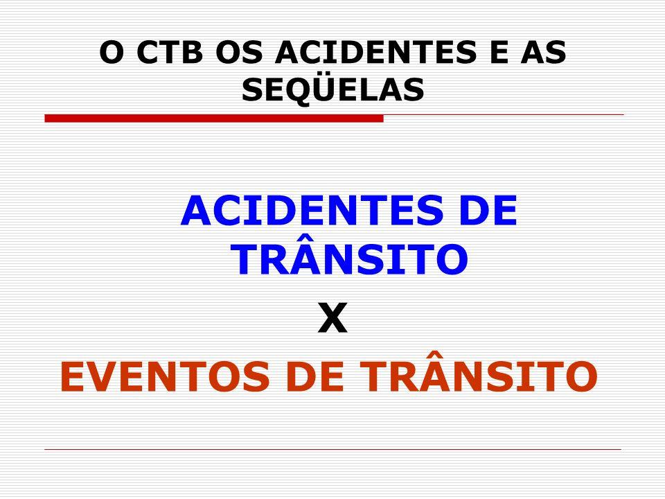 O CTB OS ACIDENTES E AS SEQÜELAS ACIDENTES DE TRÂNSITO X EVENTOS DE TRÂNSITO