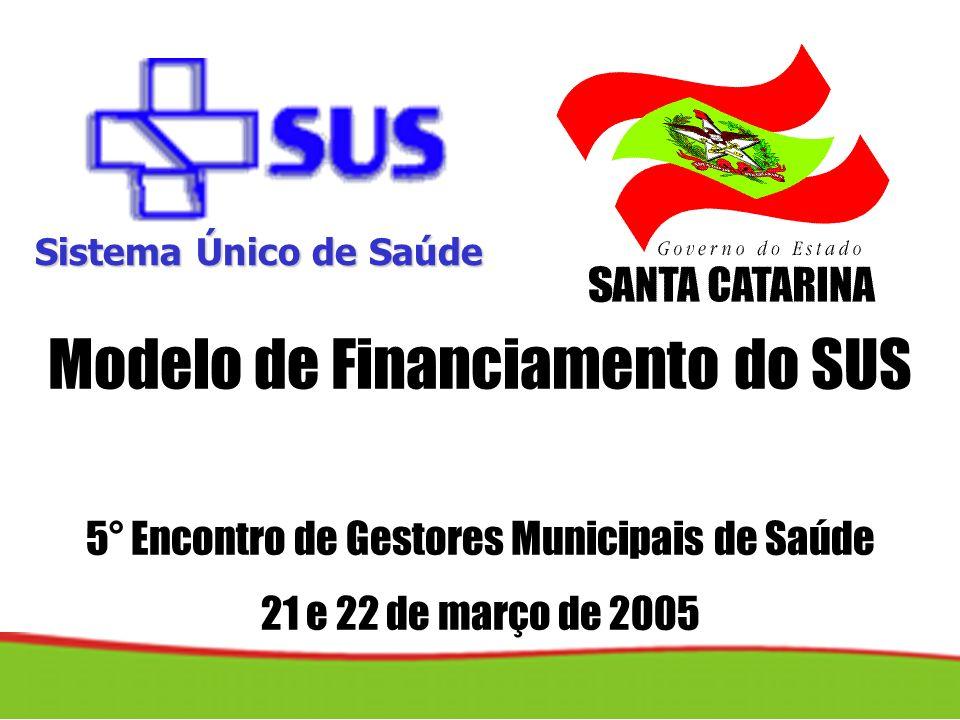 Distribuição % dos Convênios, segundo tipo Santa Catarina, 2004 Convênios firmados pela SES 2001/ 2004