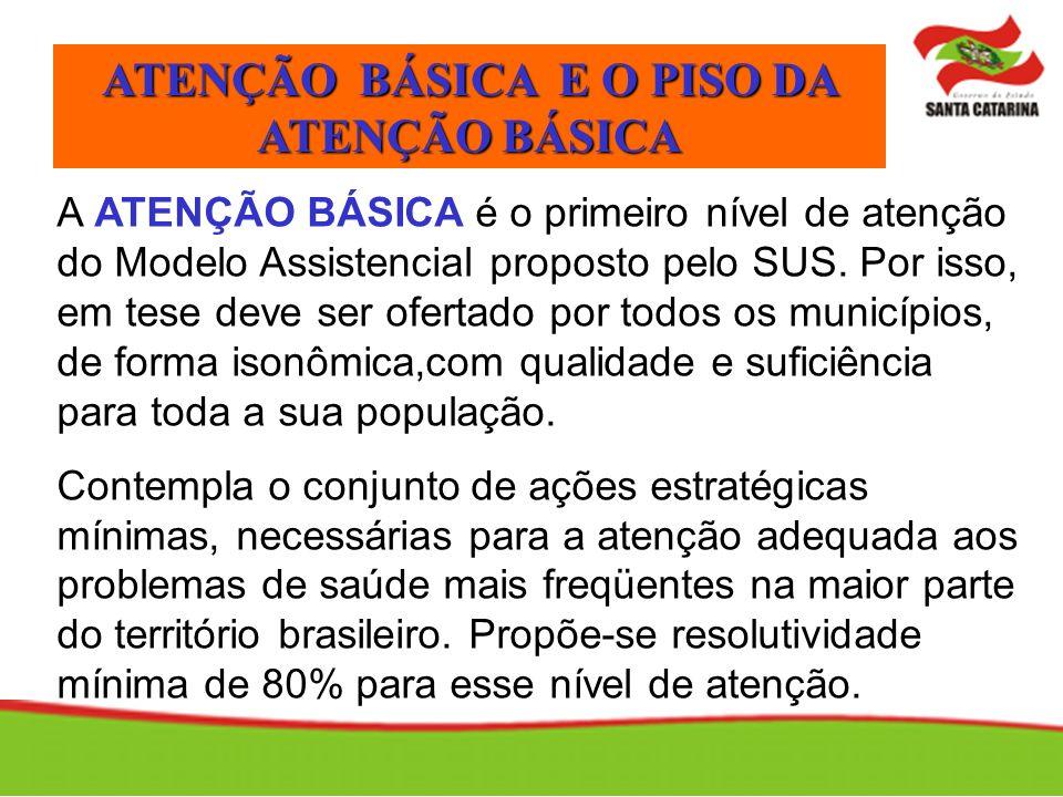 A ATENÇÃO BÁSICA é o primeiro nível de atenção do Modelo Assistencial proposto pelo SUS. Por isso, em tese deve ser ofertado por todos os municípios,