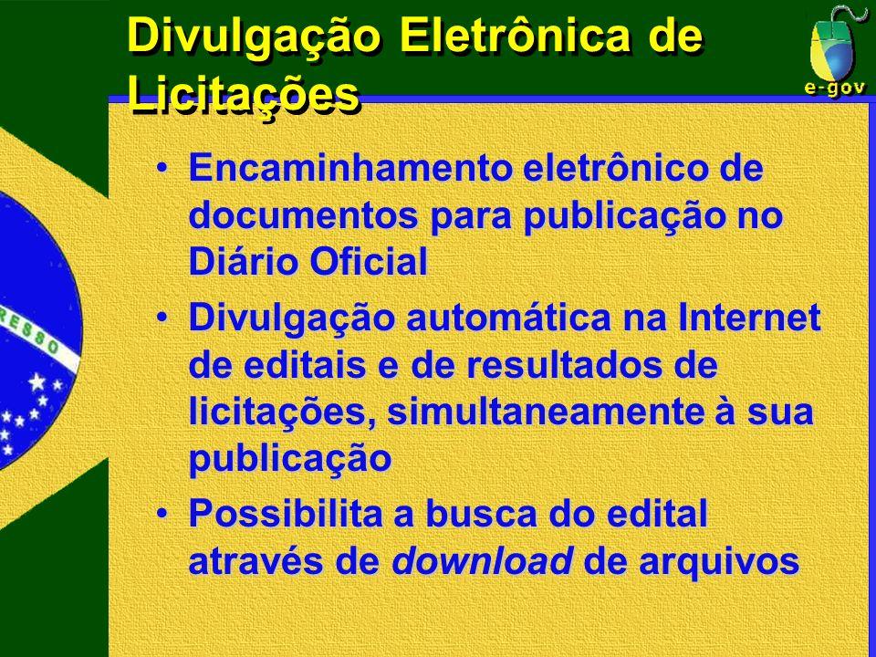 Divulgação Eletrônica de Licitações Encaminhamento eletrônico de documentos para publicação no Diário OficialEncaminhamento eletrônico de documentos p