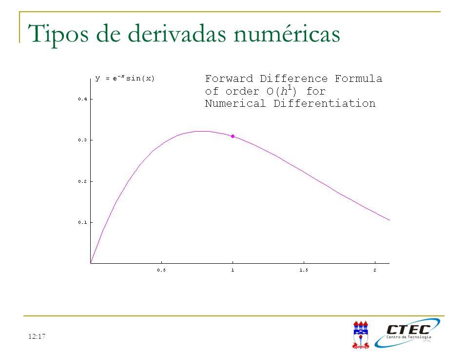 12:17 Tipos de derivadas numéricas