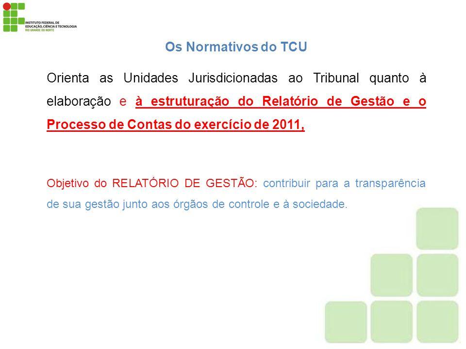 Os Normativos do TCU Orienta as Unidades Jurisdicionadas ao Tribunal quanto à elaboração e à estruturação do Relatório de Gestão e o Processo de Conta