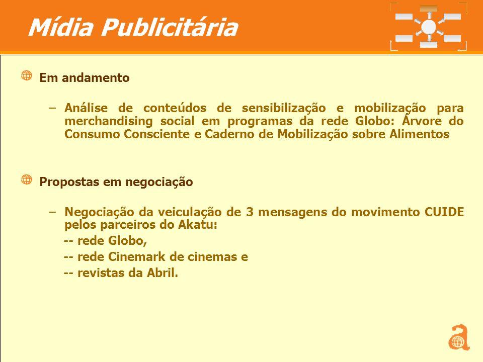 13 Em andamento –Análise de conteúdos de sensibilização e mobilização para merchandising social em programas da rede Globo: Árvore do Consumo Conscien