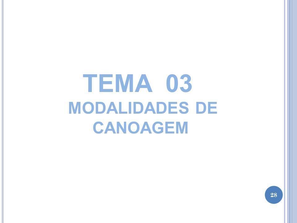 TEMA 03 MODALIDADES DE CANOAGEM 28