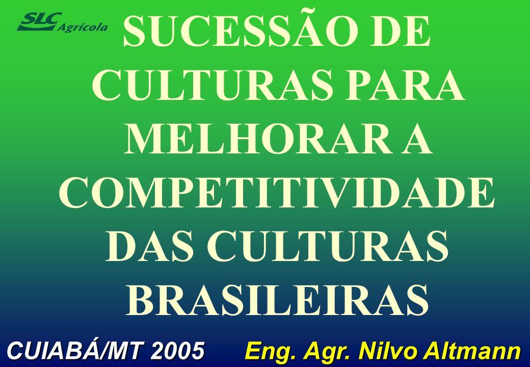 SUCESSÃO DE CULTURAS PARA MELHORAR A COMPETITIVIDADE DAS CULTURAS BRASILEIRAS CUIABÁ/MT 2005 Eng. Agr. Nilvo Altmann