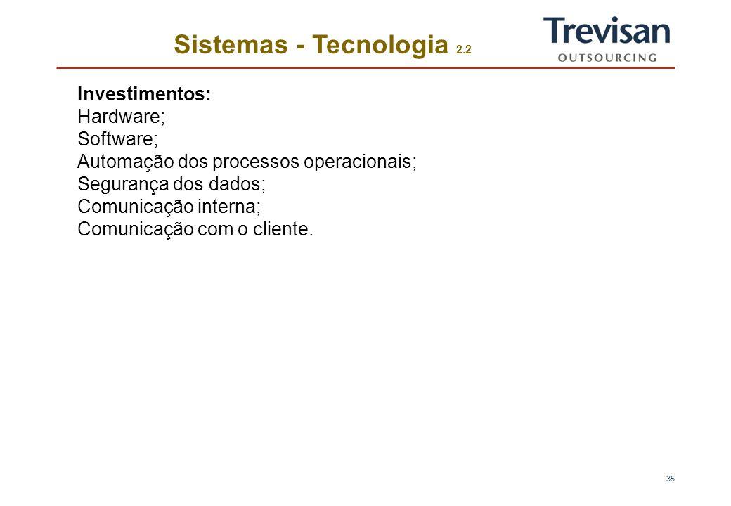 34 Sistemas - Tecnologia 1.2 Contabilidade/Tributos Contas a Receber Compras Tesouraria Custeio Controle de Estoques Vendas ManutençãoIndustrial Produ