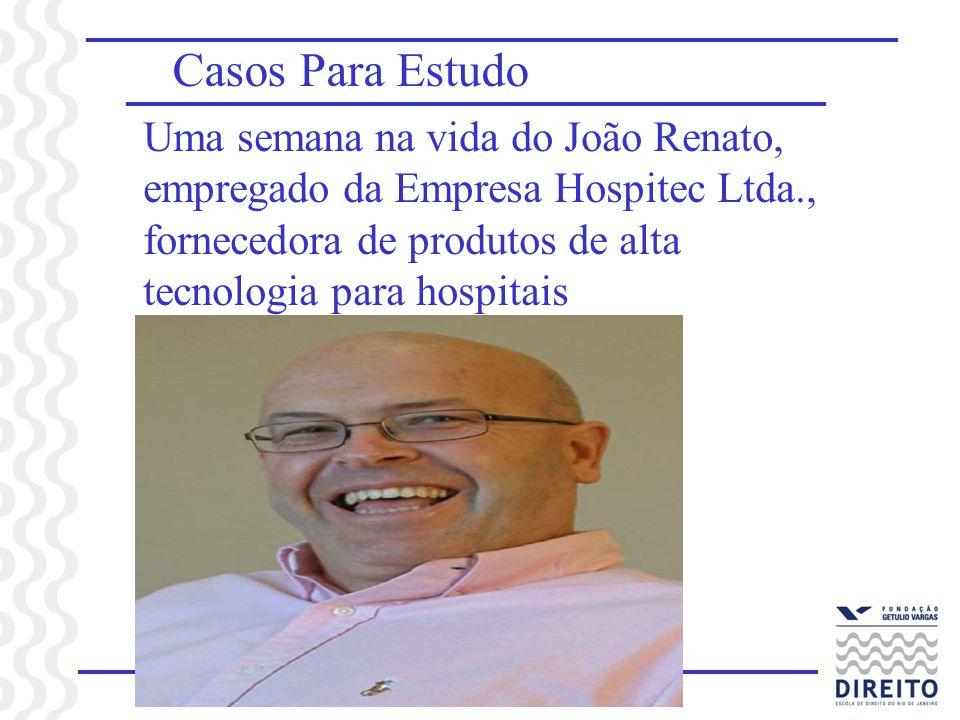 Casos Para Estudo Uma semana na vida do João Renato, empregado da Empresa Hospitec Ltda., fornecedora de produtos de alta tecnologia para hospitais
