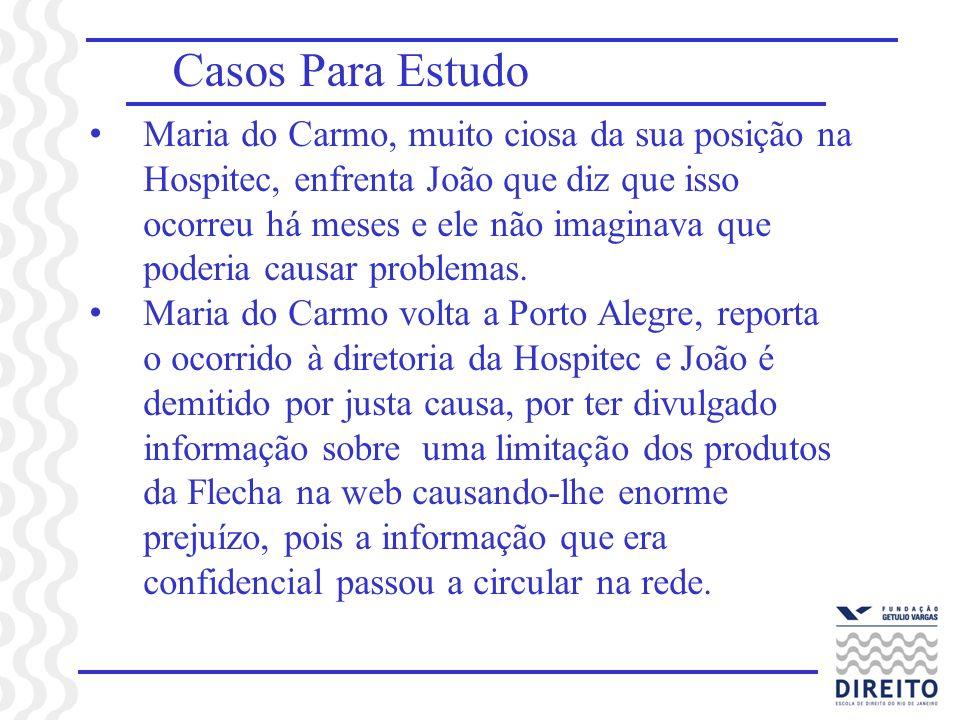 Casos Para Estudo Maria do Carmo, muito ciosa da sua posição na Hospitec, enfrenta João que diz que isso ocorreu há meses e ele não imaginava que pode