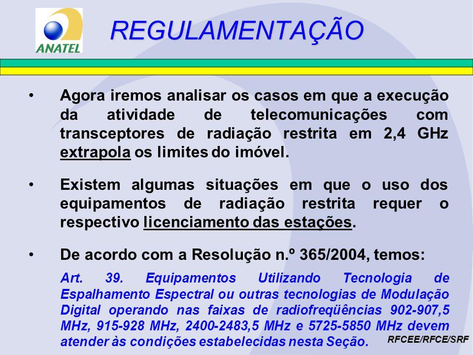 POSSIBILIDADES DE USO RFCEE/RFCE/SRF c)Provimento de acesso para terceiros, em localidades 500 mil hab.