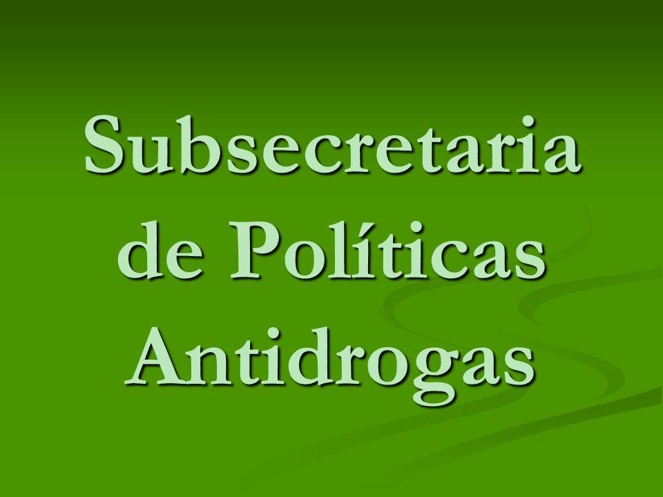 Subsecretaria de Políticas Antidrogas
