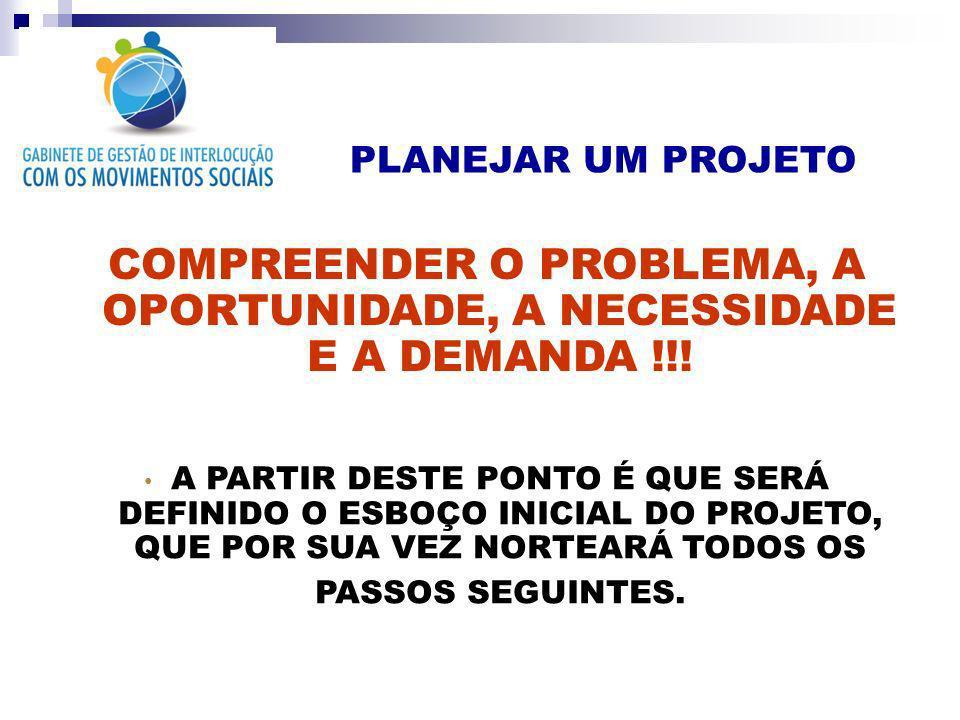 PROBLEMA OPORTUNIDADE NECESSIDADE DEMANDA OBRAS FÍSICAS ALFABETIZAÇÃO AUXÍLIO A GRUPOS VULNERÁVEIS POLÍTICAS PÚBLICAS FONTES DE RECURSOS EDITAIS ABERTOS SUSTENTABILIDADE