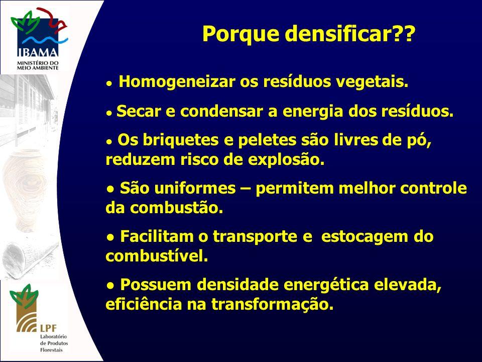 As matérias-primas Potencial dos resíduos de biomassa no Brasil Potencial dos resíduos de biomassa no Brasil Todas biomassas podem ser utilizadas – mesmo misturas * menos as contaminadas com substâncias conservantes ou substâncias químicas de colagem e acabamento.