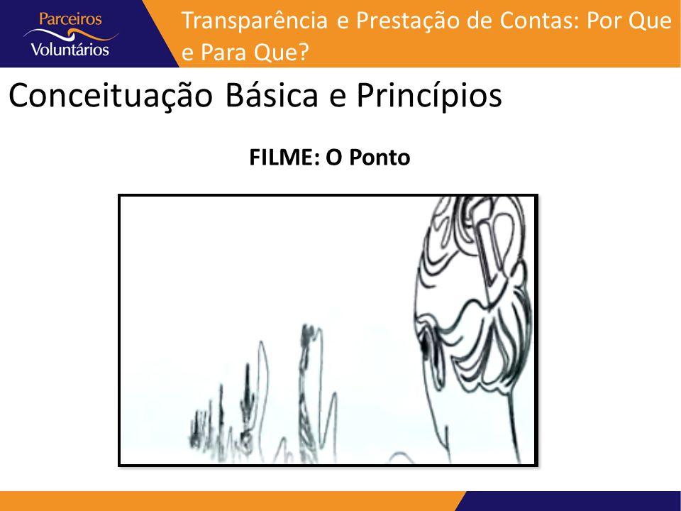 Conceituação Básica e Princípios FILME: O Ponto Transparência e Prestação de Contas: Por Que e Para Que?