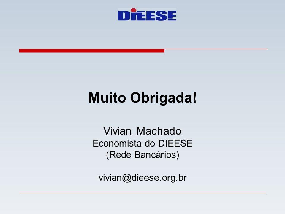 Muito Obrigada! Vivian Machado Economista do DIEESE (Rede Bancários) vivian@dieese.org.br