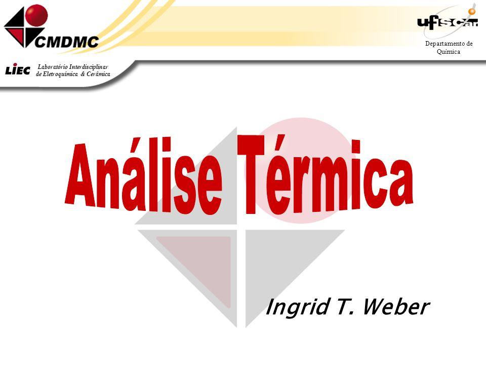 Departamento de Química Laboratório Interdisciplinar de Eletroquímica & Cerâmica Ingrid T. Weber