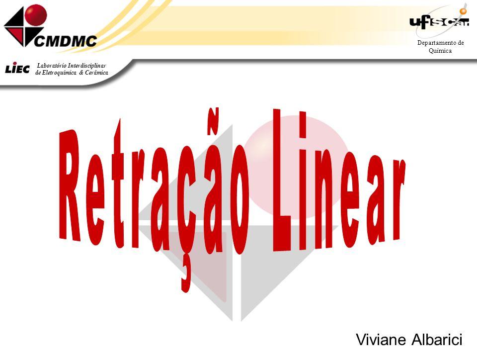 Departamento de Química Laboratório Interdisciplinar de Eletroquímica & Cerâmica Viviane Albarici