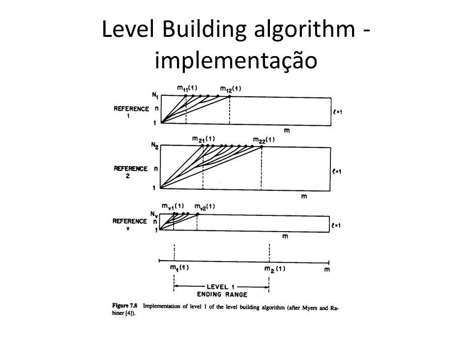 Level Building algorithm - implementação