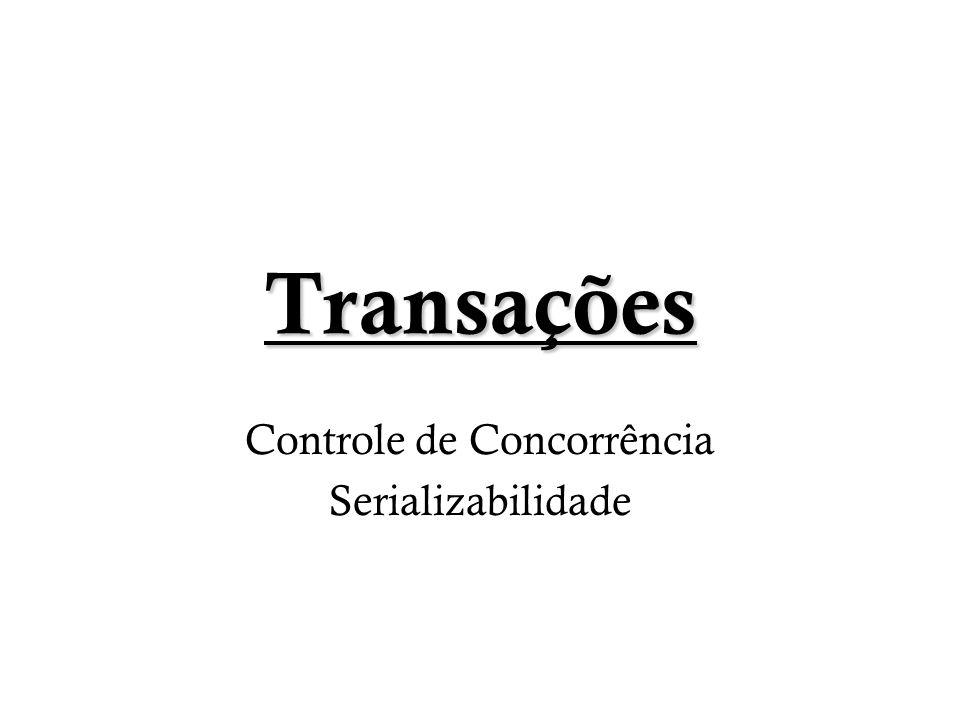 Transações Controle de Concorrência Serializabilidade