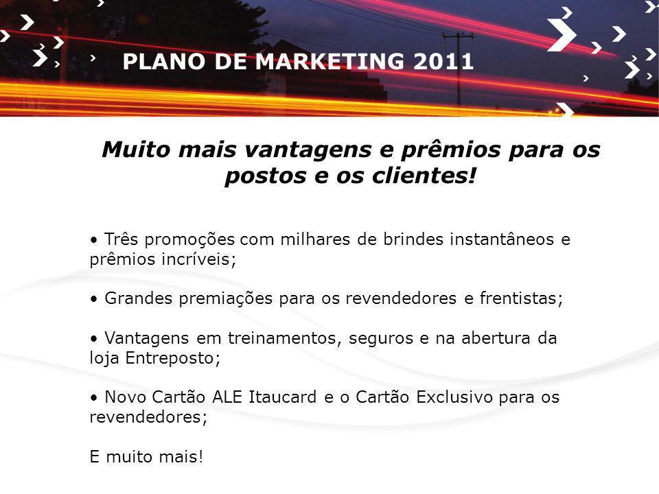 PROMOÇÕES ALE 2011 Serão três grandes promoções com milhares de brindes instantâneos para presentear os clientes.