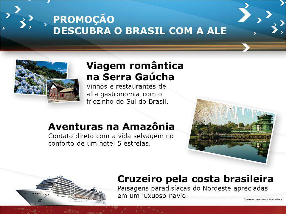 Cruzeiro pela costa brasileira Paisagens paradisíacas do Nordeste apreciadas em um luxuoso navio. Imagens meramente ilustrativas. PROMOÇÃO DESCUBRA O