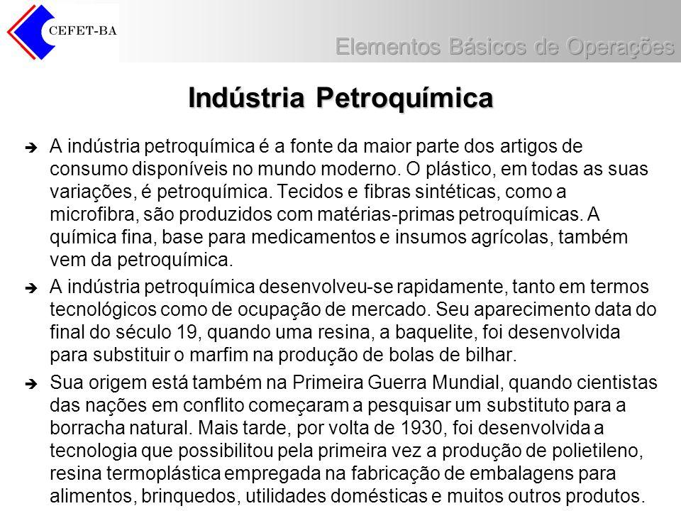Indústria Petroquímica A indústria petroquímica é a fonte da maior parte dos artigos de consumo disponíveis no mundo moderno. O plástico, em todas as