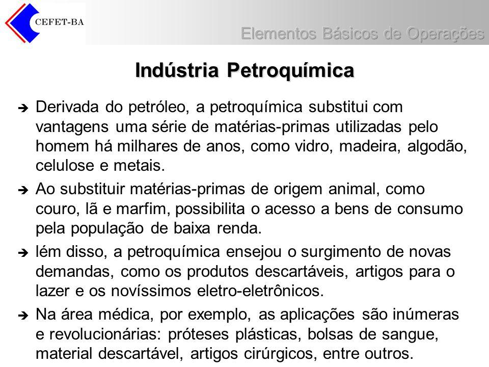 Indústria Petroquímica Derivada do petróleo, a petroquímica substitui com vantagens uma série de matérias-primas utilizadas pelo homem há milhares de