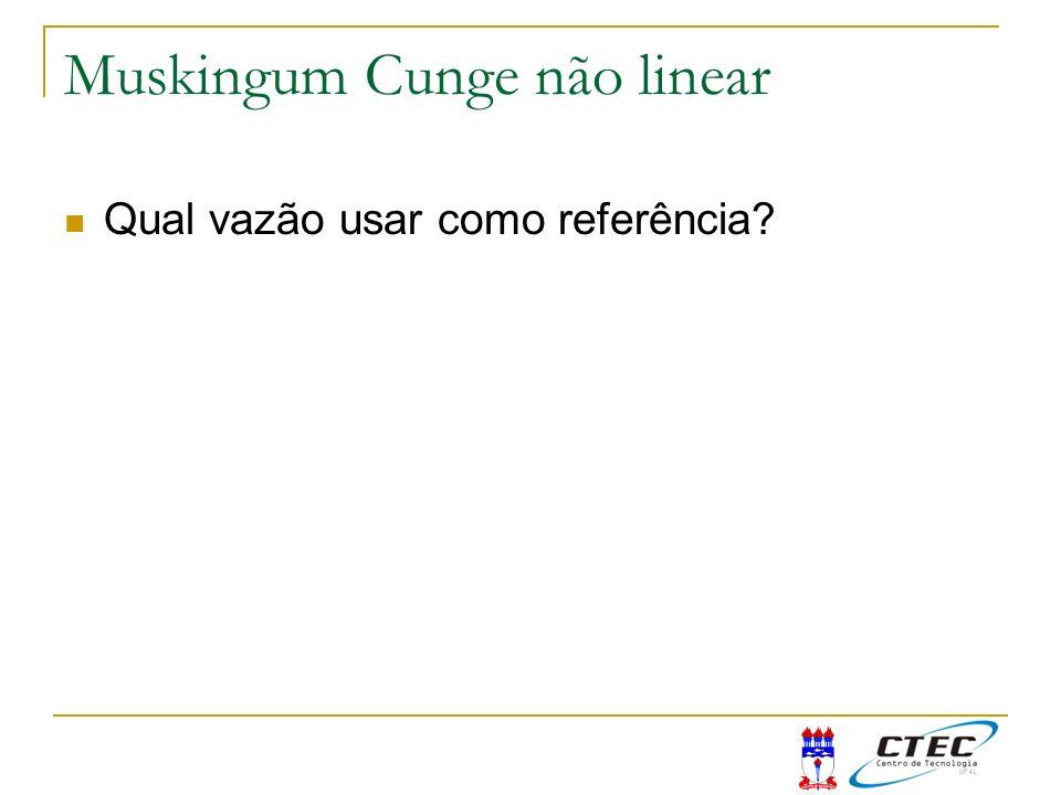 Muskingum Cunge não linear Qual vazão usar como referência?