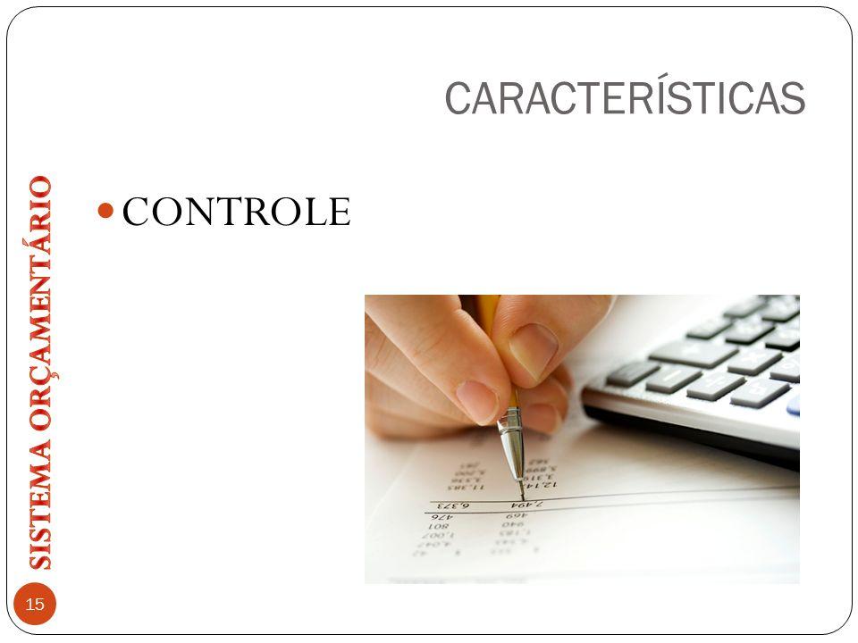 CARACTERÍSTICAS CONTROLE 15