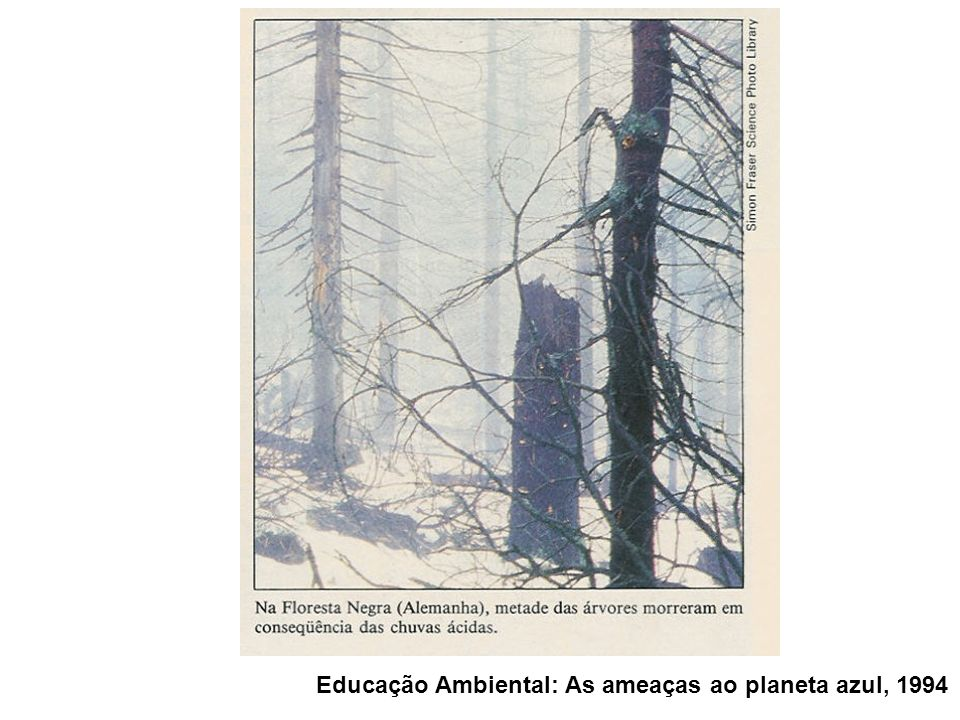 Educação Ambiental: As ameaças ao planeta azul, 1994