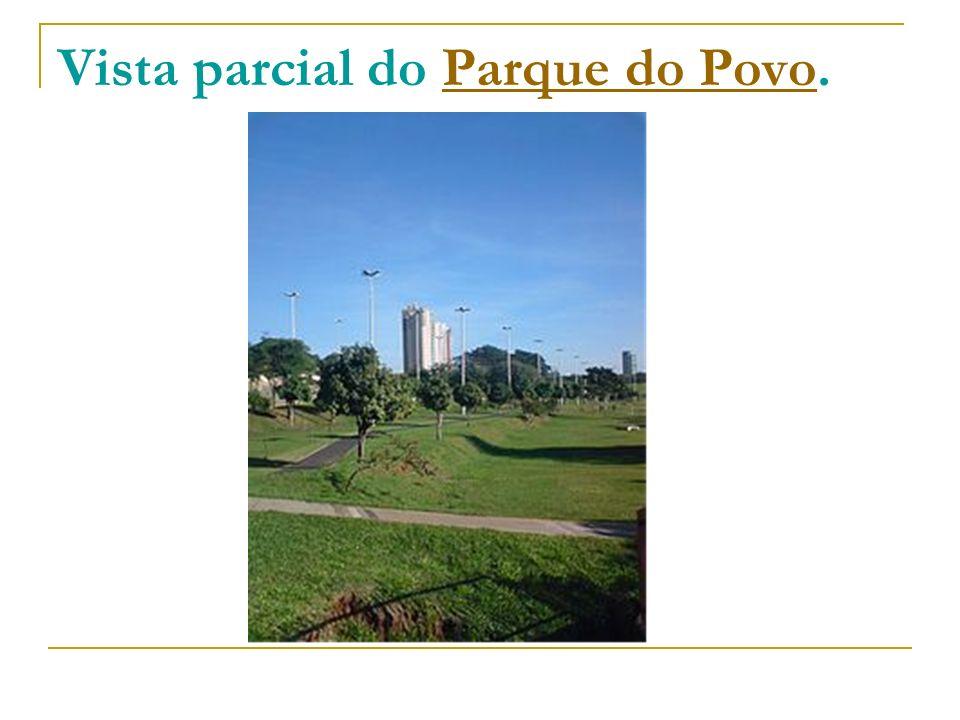Vista parcial do Parque do Povo.Parque do Povo