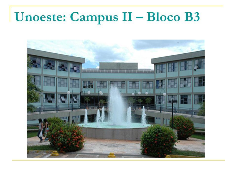 Unoeste: Campus II – Bloco B3
