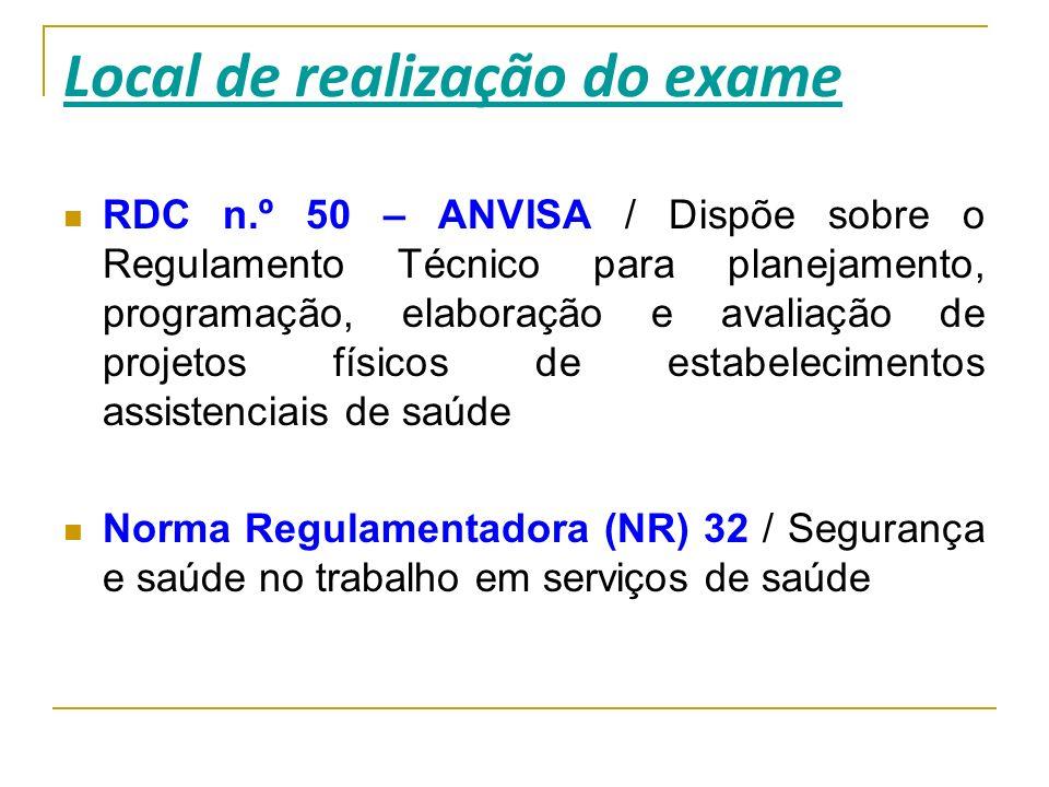 RDC n.º 50 – ANVISA / Dispõe sobre o Regulamento Técnico para planejamento, programação, elaboração e avaliação de projetos físicos de estabelecimento