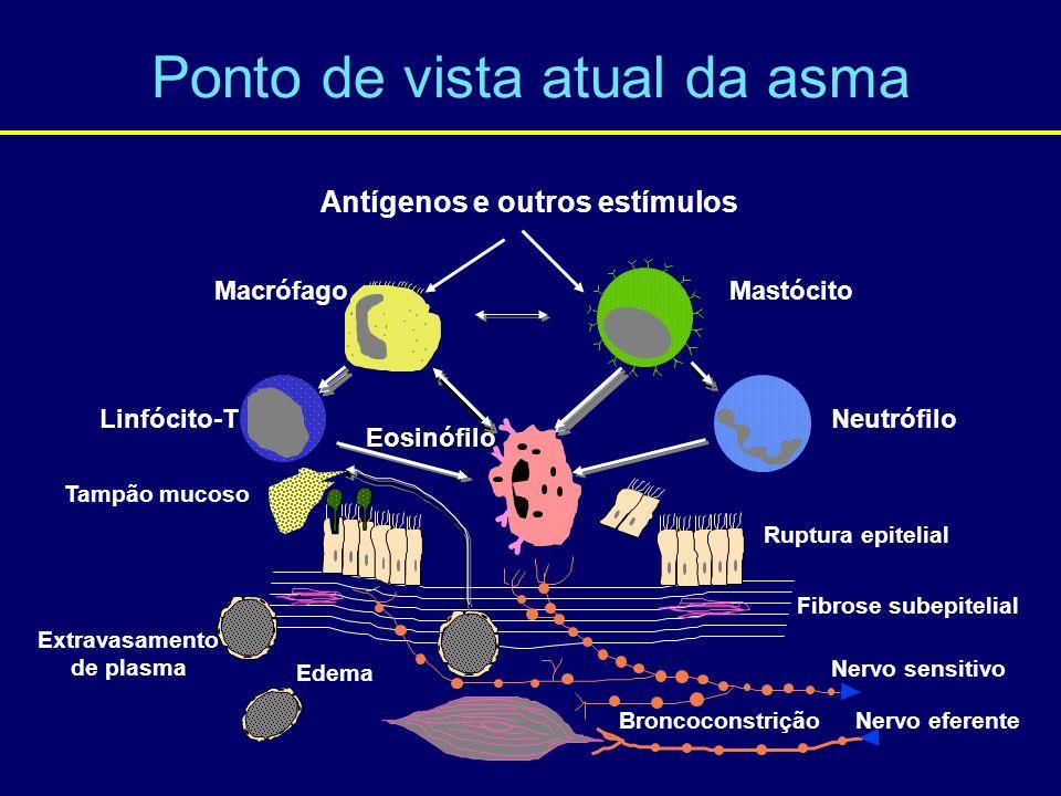 Ponto de vista atual da asma Tampão mucoso Extravasamento de plasma