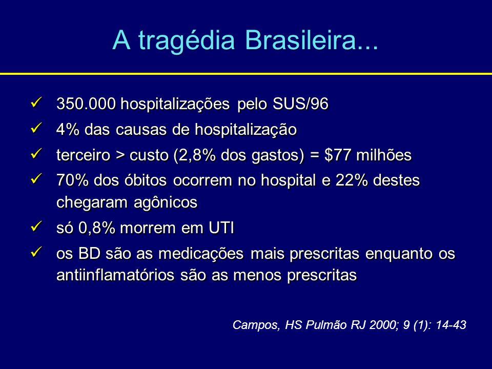 A tragédia Brasileira... 350.000 hospitalizações pelo SUS/96 350.000 hospitalizações pelo SUS/96 4% das causas de hospitalização 4% das causas de hosp