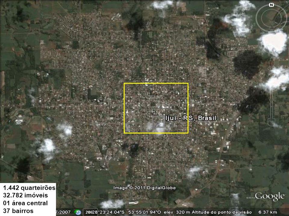 1.442 quarteirões 32.782 imóveis 01 área central 37 bairros