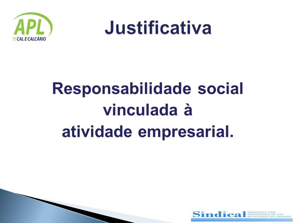 Responsabilidade social vinculada à atividade empresarial.