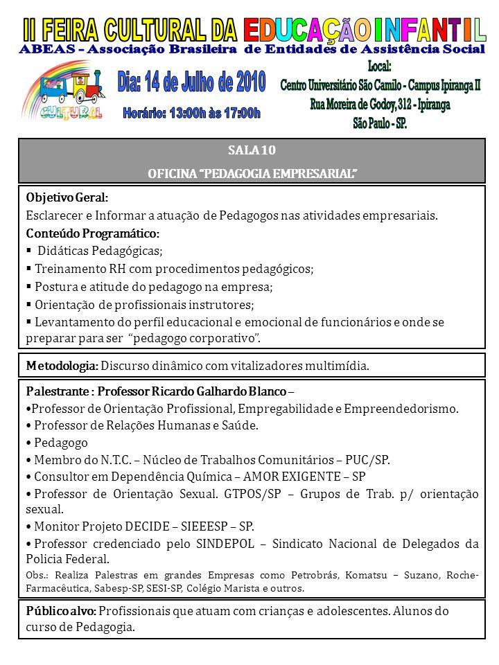 Palestrante : Professor Ricardo Galhardo Blanco – Professor de Orientação Profissional, Empregabilidade e Empreendedorismo. Professor de Relações Huma