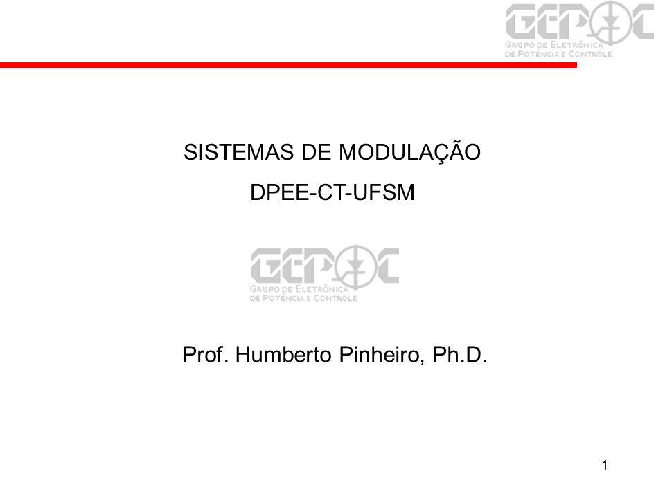 1 Prof. Humberto Pinheiro, Ph.D. SISTEMAS DE MODULAÇÃO DPEE-CT-UFSM