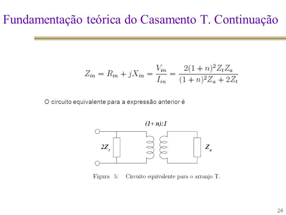 Fundamentação teórica do Casamento T.