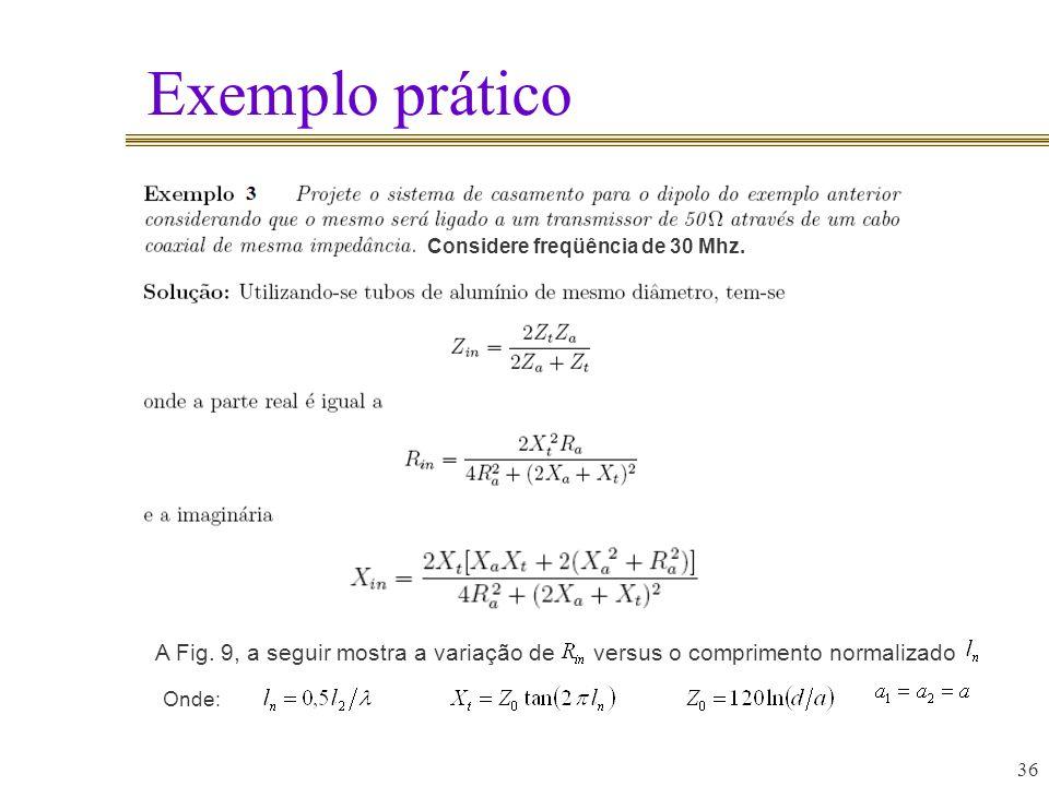 Exemplo prático 36 A Fig.