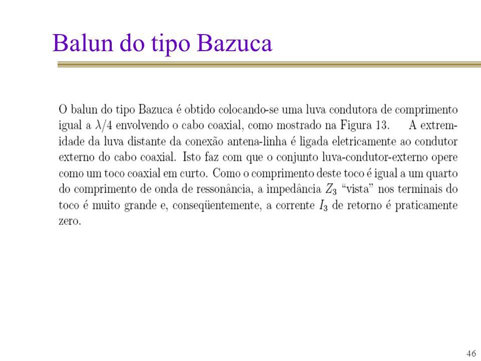 Balun do tipo Bazuca 46