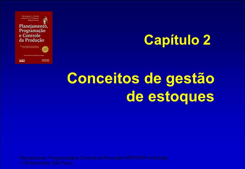 Planejamento, Programação e Controle da Produção MRPII/ERP, 4a Edição © Editora Atlas, São Paulo Conceitos de gestão de estoques Capítulo 2