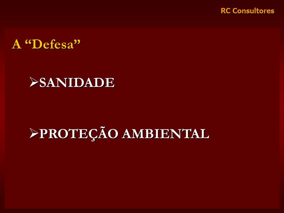 RC Consultores A Defesa SANIDADE SANIDADE PROTEÇÃO AMBIENTAL PROTEÇÃO AMBIENTAL