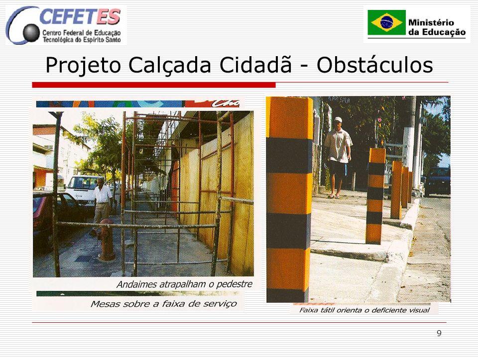 9 Projeto Calçada Cidadã - Obstáculos