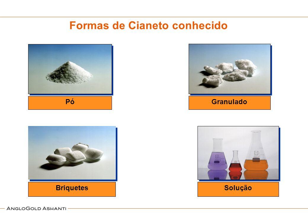 Formas de Cianeto conhecido Pó Granulado Briquetes Solução