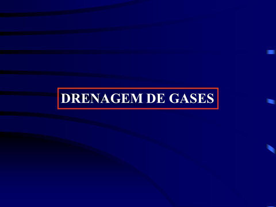 Drenagem e tratamento de gases Exaustão forçada Queima em Flares – redução CH 4 (Quioto)